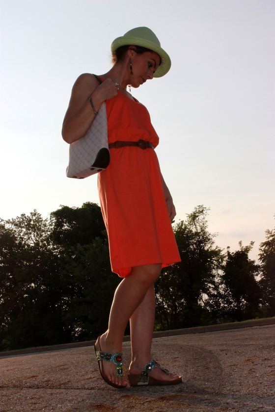 orange dress1